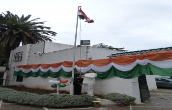 Republic Day 2015 - Flag hosting ceremony at Embassy Residence on 26 January, 2015