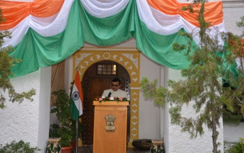 Republic Day 2015 - Flag hosting ceremony at Embassy Residence