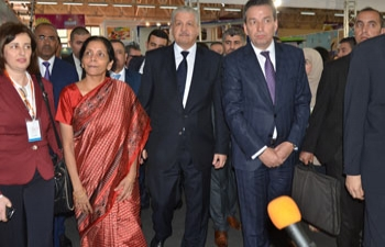 Inauguration of India Pavilion, Salam Namaste, by Honorable Prime Minister of Algeria H.E. Mr. Abdelmalek Sellal and H.E. Ms. Nirmala Sitharaman, Minister of State for Commerce and Industry on 26 May, 2015 at the 48th Algiers International Trade Fair