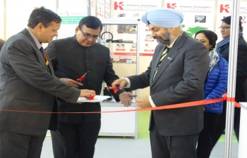 Inauguration of Indian Pavilion in Equip Auto Algeria 2016(Exhibition of Auto Components) by Ambassador on 29 February 2016 at SAFEX Exhibtion Centre, Concorde Pavilion, Algiers