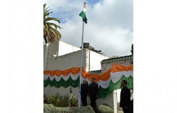 Celebration of India\'s 70th Independence Day on 15th August, 2016 at Embassy Residence in Algiers