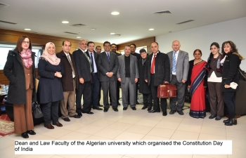 Celebration of Constitution Day in Algeria on 29.11.2016 in University of Algiers, Faculty of Law