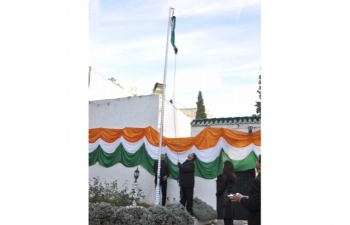 Celebration of 68th Republic Day of India at India House, Algiers on 26 January 2017 (Morning Function)