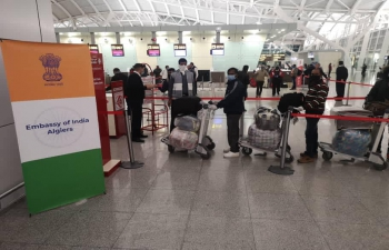 Embassy of India, Algiers facilitates the operation of the 7th Chartered flight operated by private operators carrying distressed Indians from Algeria. Flight No. AH 3804 carrying 248 Passengers took off from Algiers to Delhi at 10:40 hours on 26 Nov 2020.